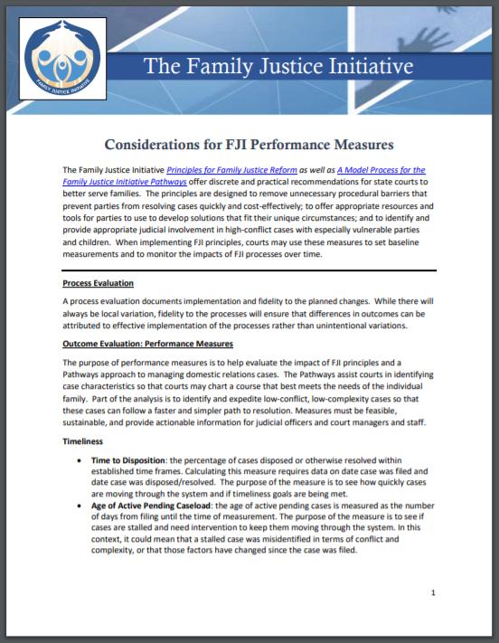 FJI Considerations Perf Measures Capture