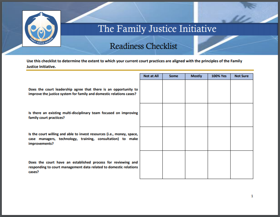 FJI Readiness Checklist Capture